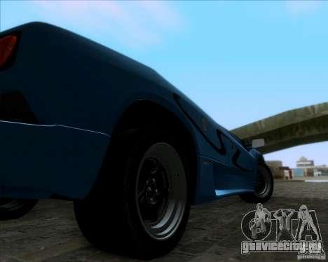 Lamborghini Diablo SV V1.0 для GTA San Andreas вид сзади слева