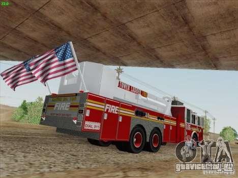 Seagrave Marauder. F.D.N.Y. Tower Ladder 186 для GTA San Andreas вид слева