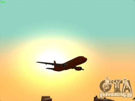 Airbus A320-214 EasyJet 200th Plane для GTA San Andreas вид снизу