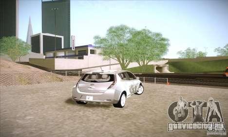 Nissan Leaf 2011 для GTA San Andreas вид сзади слева