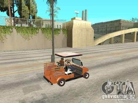 Golfcart caddy для GTA San Andreas вид сзади слева