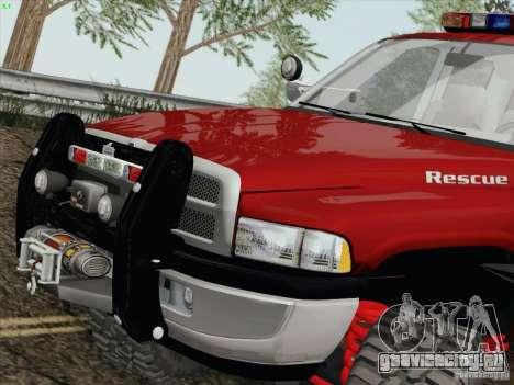 Dodge Ram 3500 Search & Rescue для GTA San Andreas вид слева