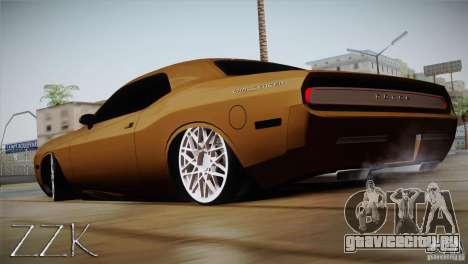 Dodge Challenger Socado Com Rotiform FIXA для GTA San Andreas вид слева