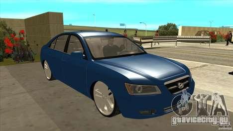 Hyundai Sonata NF для GTA San Andreas вид сзади