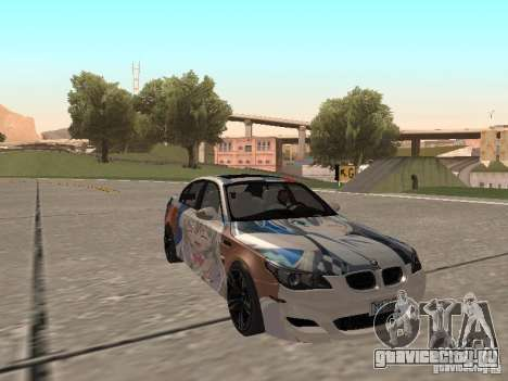 BMW M5 E60 для GTA San Andreas вид сверху