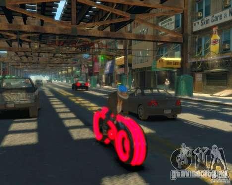 Мотоцикл из Трон (красный неон) для GTA 4 вид сзади слева