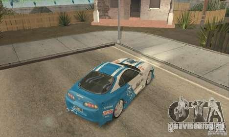 Toyota Supra Tunable 2 для GTA San Andreas вид снизу