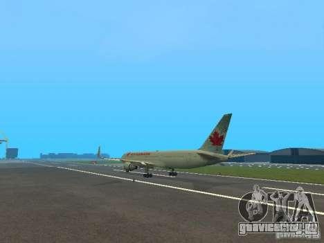 Boeing 767-300 Air Canada для GTA San Andreas вид сзади