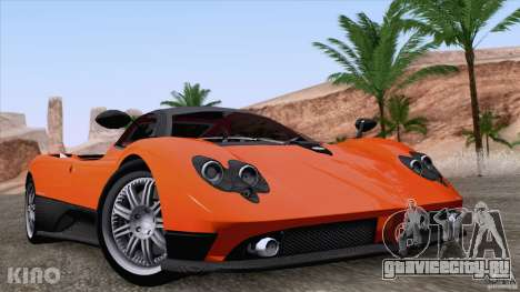 Pagani Zonda F для GTA San Andreas вид сверху