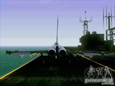 Eurofighter-2000 Typhoon для GTA San Andreas вид сзади слева