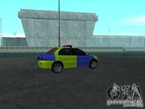Mitsubishi Lancer Полиция для GTA San Andreas вид справа