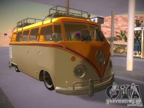 Volkswagen Type 2 Custom для GTA San Andreas вид сзади слева