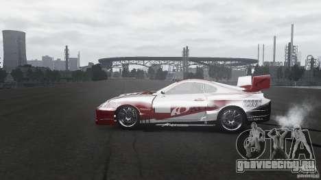 Toyota Supra Apexi Race System для GTA 4 вид слева