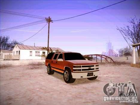 Chevrolet Suburban 1998 для GTA San Andreas вид сзади