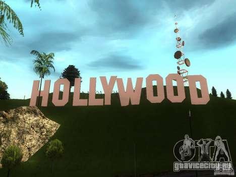 Надпись Hollywood для GTA San Andreas второй скриншот