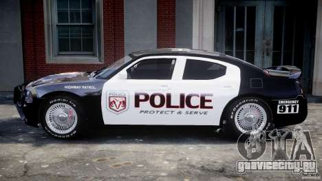 Dodge Charger SRT8 Police Cruiser для GTA 4 вид сзади слева