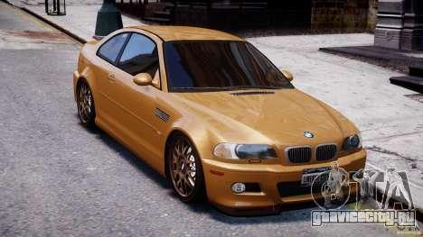 BMW M3 E46 Tuning 2001 v2.0 для GTA 4 вид изнутри