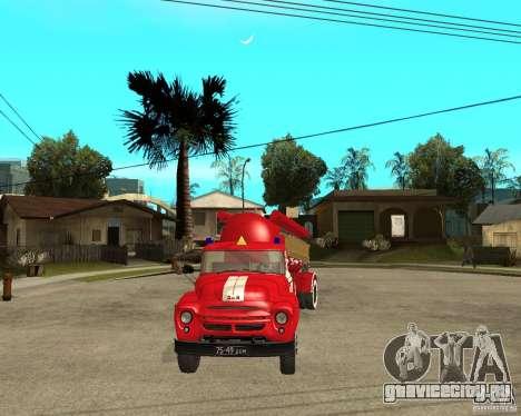 Пожарный автомобиль АВ-6 (130В1) для GTA San Andreas вид сзади