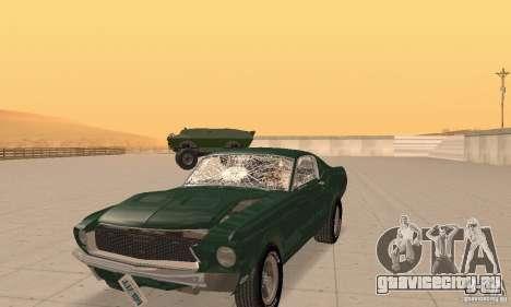 Ford Mustang Bullitt 1968 v.2 для GTA San Andreas вид изнутри