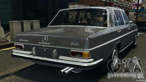 Mercedes-Benz 300Sel 1971 v1.0 для GTA 4 вид сзади слева