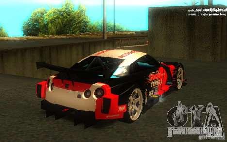 Nissan Skyline R35 GTR для GTA San Andreas салон