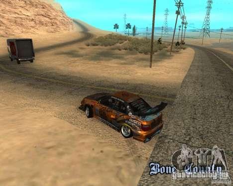 Subaru Impreza WRX Team Orange DRIFT SA-MP для GTA San Andreas вид сзади