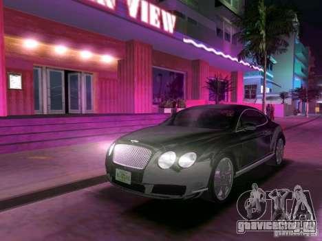 Bentley Continental GT для GTA Vice City вид сзади