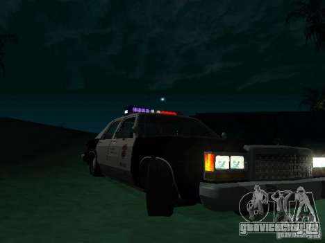 Ford Crown Victoria LTD 1992 SFPD для GTA San Andreas вид сзади