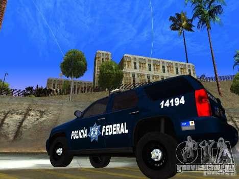 Chevrolet Tahoe 2008 Police Federal для GTA San Andreas вид слева