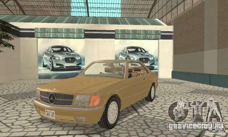 Mercedes-Benz W126 560SEC для GTA San Andreas вид слева