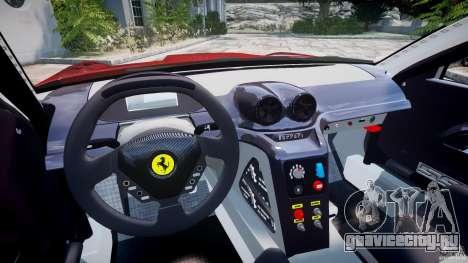 Ferrari 599 XX для GTA 4 вид сзади