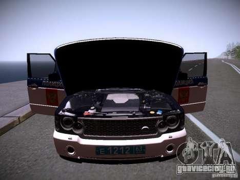 Range Rover Supercharged 2008 Полиция ГУВД для GTA San Andreas двигатель