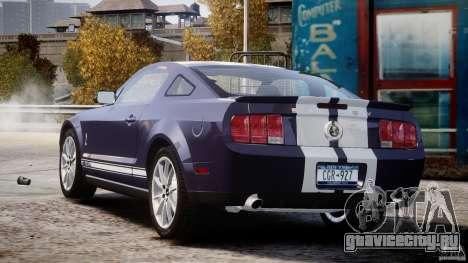 Shelby GT500KR 2008 для GTA 4 вид сбоку