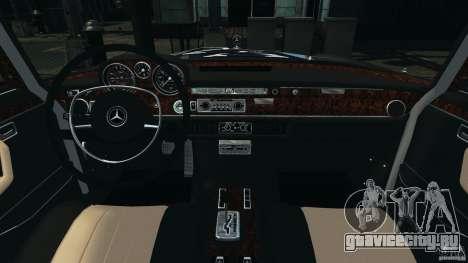 Mercedes-Benz 300Sel 1971 v1.0 для GTA 4 вид сзади