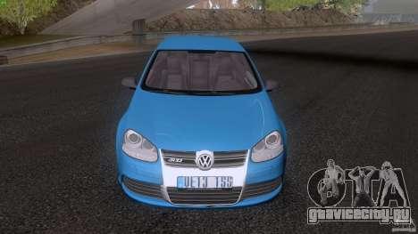 VW Golf 5 R32 2006 StanceWorks для GTA San Andreas вид сзади слева