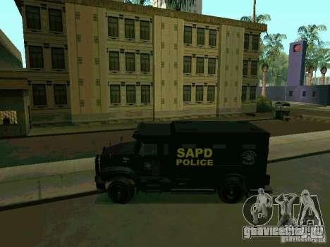 Stokade SAPD SWAT Van для GTA San Andreas вид слева