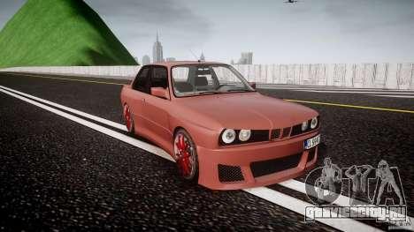 BMW E30 v8 для GTA 4 вид сзади