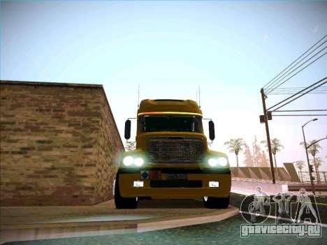 Freightliner Century Classic для GTA San Andreas вид изнутри