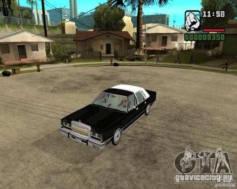 Lincoln Town Car 1986 для GTA San Andreas вид слева