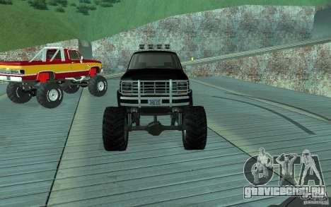 Ford Bronco Monster Truck 1985 для GTA San Andreas вид сзади