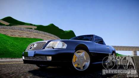 Mercedes SL 500 AMG 1995 для GTA 4 вид сзади