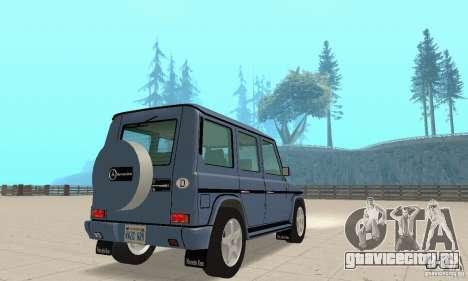 Mercedes-Benz G500 1999 v.1.1 без кенгурятника для GTA San Andreas вид слева