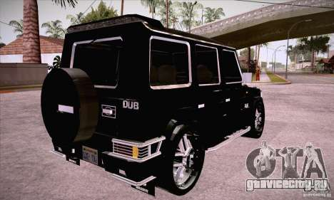 Mercedes-Benz Brabus G500 Dub Edition для GTA San Andreas вид справа