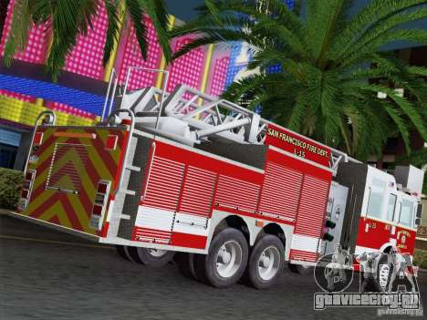 Pierce Aerials Platform. SFFD Ladder 15 для GTA San Andreas