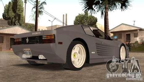 Ferarri Testarossa 1991 для GTA San Andreas вид слева