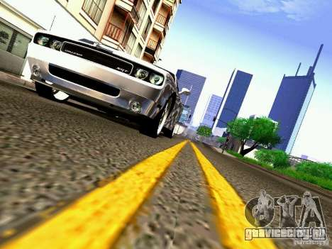 Dodge Challenger SRT8 2009 для GTA San Andreas вид сверху