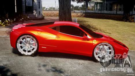 Ferrari 458 Italia Dub Edition для GTA 4 вид слева