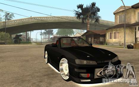 Nissan S14 HellaFlush для GTA San Andreas вид сзади