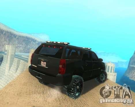 Chevrolet Suburban Crankcase Transformers 3 для GTA San Andreas вид сзади слева