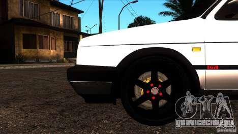 VW Golf 2 для GTA San Andreas вид снизу